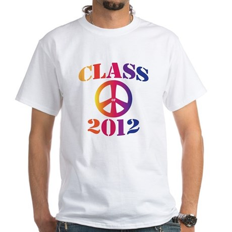 Class of 2012 Peace White T-Shirt