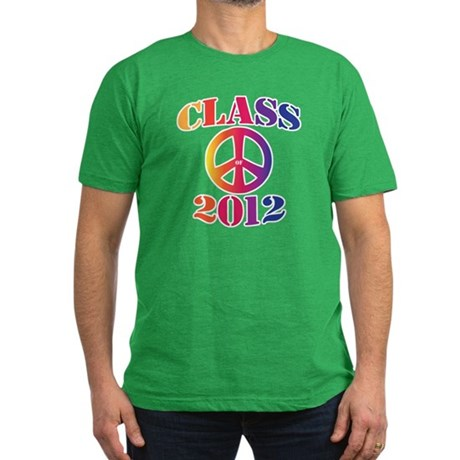 Class of 2012 Peace Men's Fitted T-Shirt (dark)