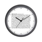 Custody Defined Black Wall Clock