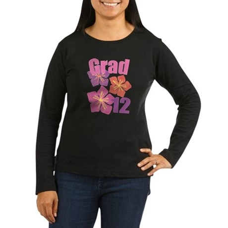 Hawaiian Grad 2012 Women's Long Sleeve Dark T-Shir