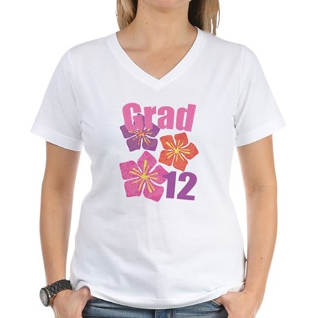 Hawaiian Grad 2012 Women's V-Neck T-Shirt