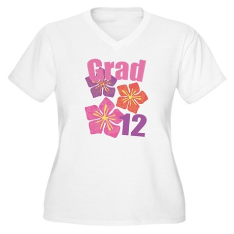 Hawaiian Grad 2012 Women's Plus Size V-Neck T-Shir