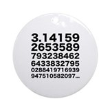 Pi numbers Ornament (Round)