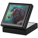 Zelvius the Friesian horse Jewelry Keepsake Box