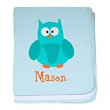 Custom Name Owl baby blanket