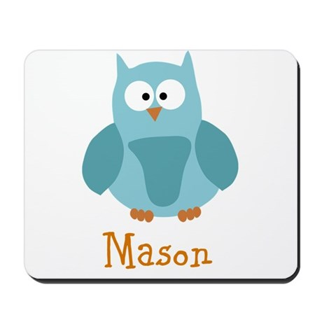 Custom Name Owl Mousepad