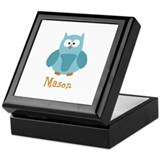 Custom Name Owl Keepsake Box
