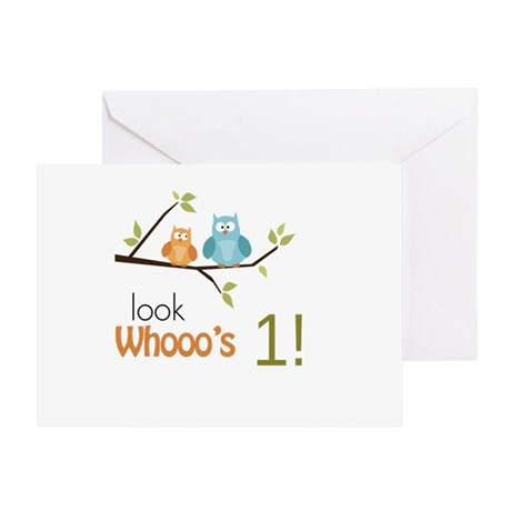 Custom Owl Birthday Greeting Card