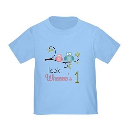 Custom Owl Birthday Toddler T-Shirt