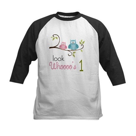 Custom Owl Birthday Kids Baseball Jersey