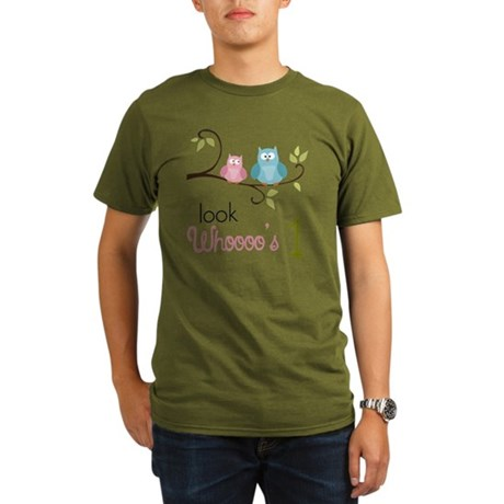 Custom Owl Birthday Organic Men's T-Shirt (dark)