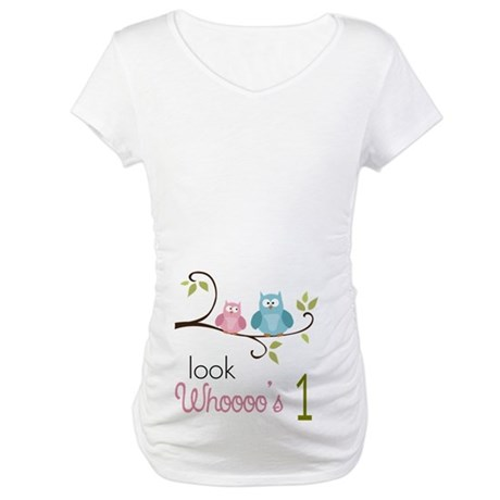 Custom Owl Birthday Maternity T-Shirt
