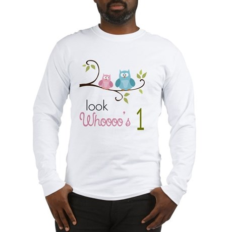 Custom Owl Birthday Long Sleeve T-Shirt