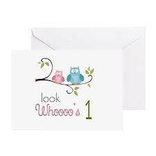 Custom Owl Birthday Greeting Card