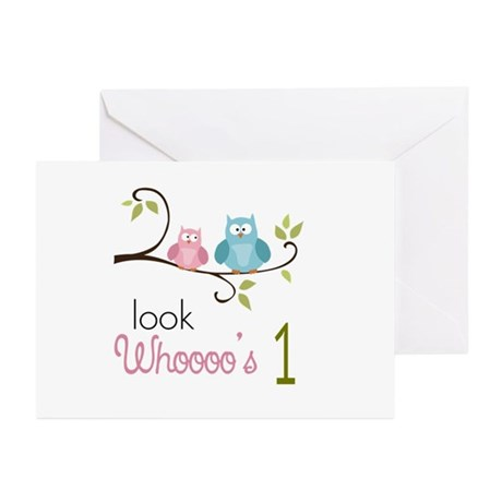 Custom Owl Birthday Greeting Cards (Pk of 20)
