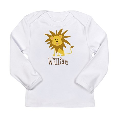 Custom Name Lion Long Sleeve Infant T-Shirt