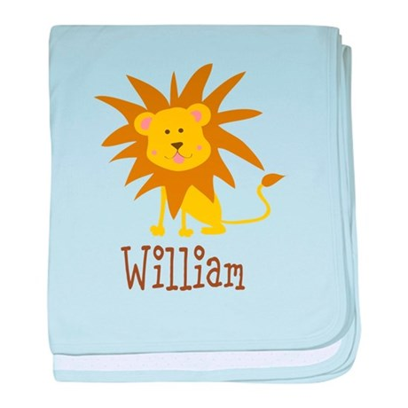 Custom Name Lion baby blanket