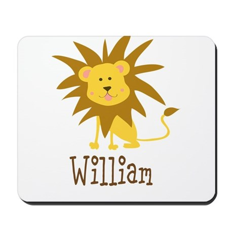 Custom Name Lion Mousepad