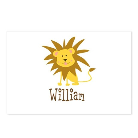 Custom Name Lion Postcards (Package of 8)