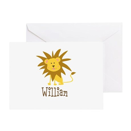 Custom Name Lion Greeting Card