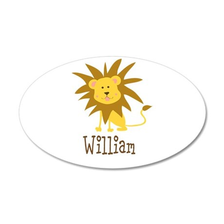 Custom Name Lion 38.5 x 24.5 Oval Wall Peel