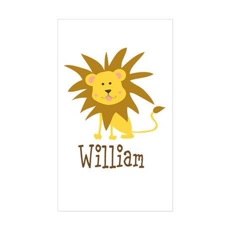 Custom Name Lion Sticker (Rectangle 50 pk)
