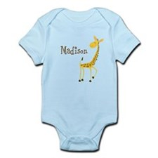 Custom Name Giraffe Infant Bodysuit