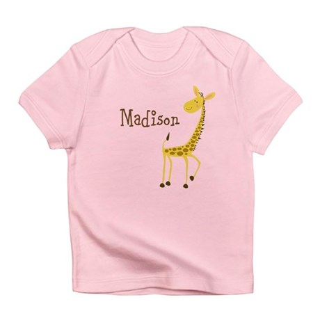 Custom Name Giraffe Infant T-Shirt