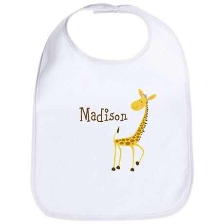 Custom Name Giraffe Bib