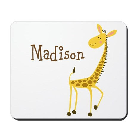 Custom Name Giraffe Mousepad