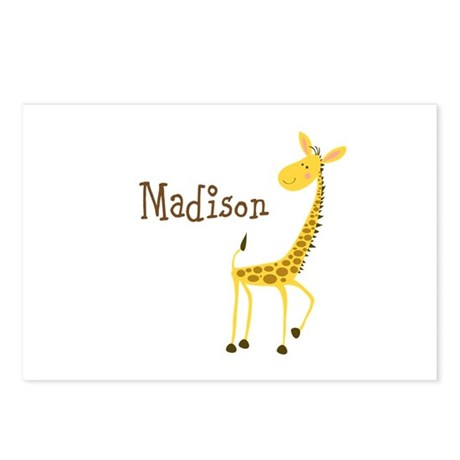 Custom Name Giraffe Postcards (Package of 8)