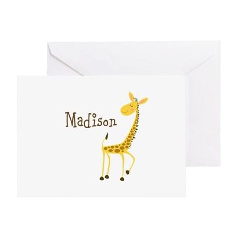 Custom Name Giraffe Greeting Card