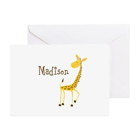 Custom Name Giraffe Greeting Cards (Pk of 10)