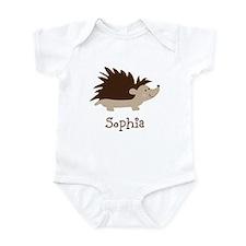 Custom Name Hedgehog Infant Bodysuit