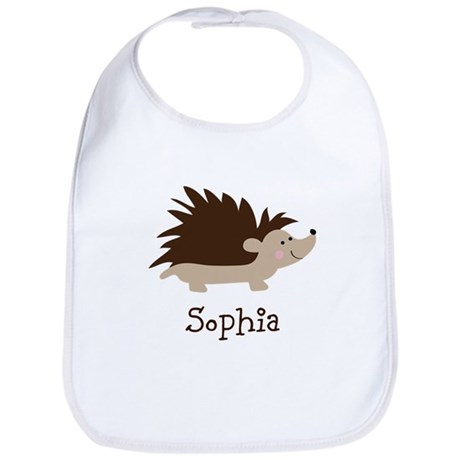 Custom Name Hedgehog Bib