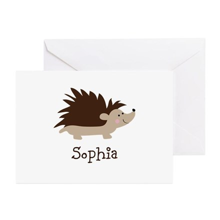 Custom Name Hedgehog Greeting Cards (Pk of 20)