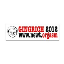 Gingrich 2012 Humor Car Magnet 10 x 3