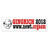Gingrich 2012 Humor Bumper Sticker