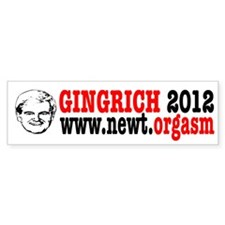 Gingrich 2012 Humor Car Sticker