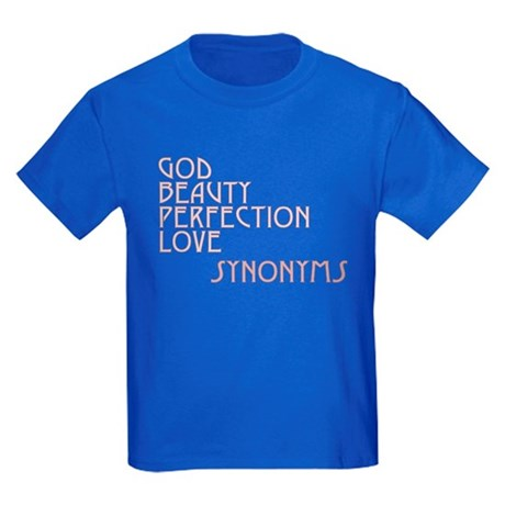 God Beauty Perfection Love Kids Dark T-Shirt