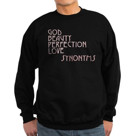 God Beauty Perfection Love Men's Dark Sweatshirt