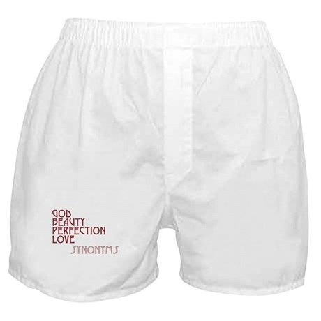 God Beauty Perfection Love Boxer Shorts
