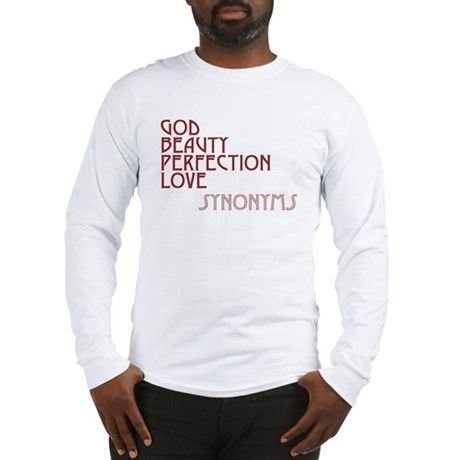 God Beauty Perfection Love Men's Long Sleeve T-Shirt