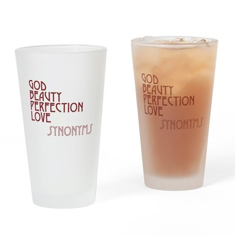 God Beauty Perfection Love Drinking Glass