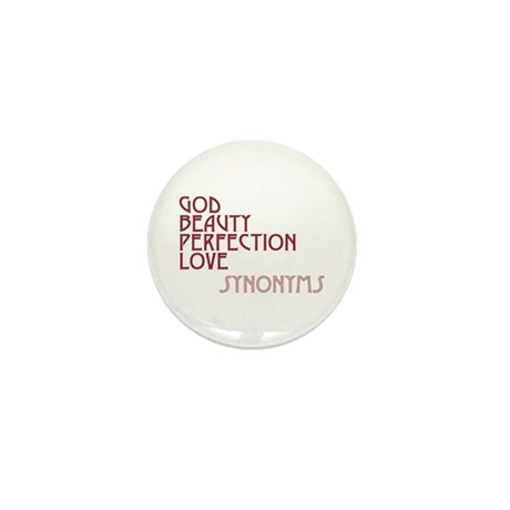 God Beauty Perfection Love Mini Buttons ~ Pack of 10