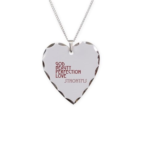 God Beauty Perfection Love Necklace with Heart Charm