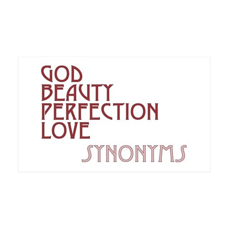 God Beauty Perfection Love 38.5x24.5 Wall Peel