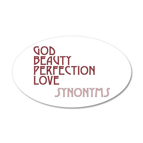 God Beauty Perfection Love 38.5x24.5 Oval Wall Peel