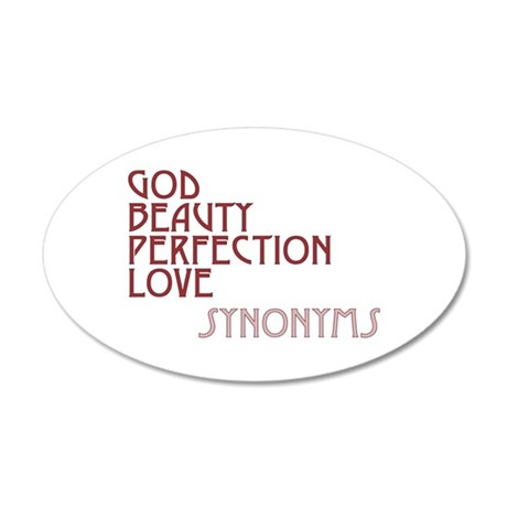 God Beauty Perfection Love 22x14 Oval Wall Peel
