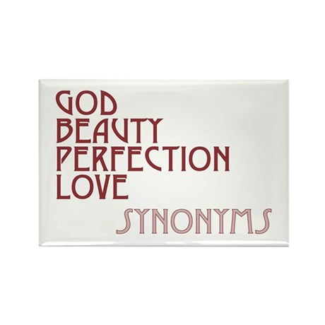 God Beauty Perfection Love Rectangle Magnets ~ Pack of 100